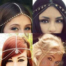 2016 Design Women's Fashion Metal Head Chain Headband Head Piece Hair Band  Hairband 1A3F 7EB8 8A8Z