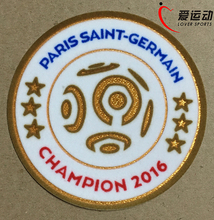 PSG 2016 League 1 champion patch 6 star champion soccer patch PSG 2016-2017 game patch free shipping(China)