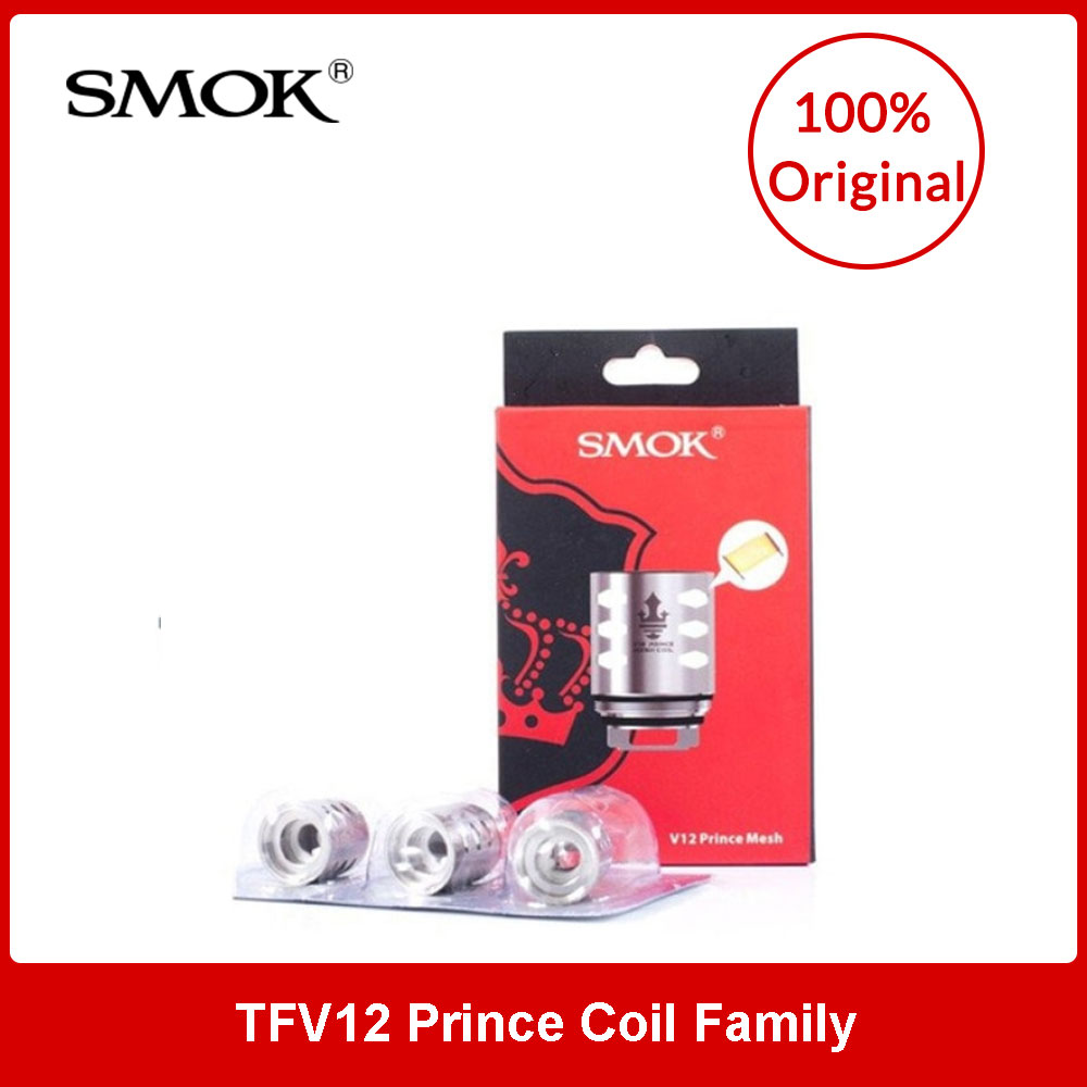 Original SMOK TFV12 V12 Prince Coil Family Q4/X6/T10/M4/Mesh/Strip/RBA/DualMesh/Triple Mesh/Max Mesh for TFV12 Prince Tank Cores