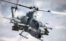"Cobra AH-1 Bell Attack helicopter Fabric poster 40"" x 24"" Decor 02"