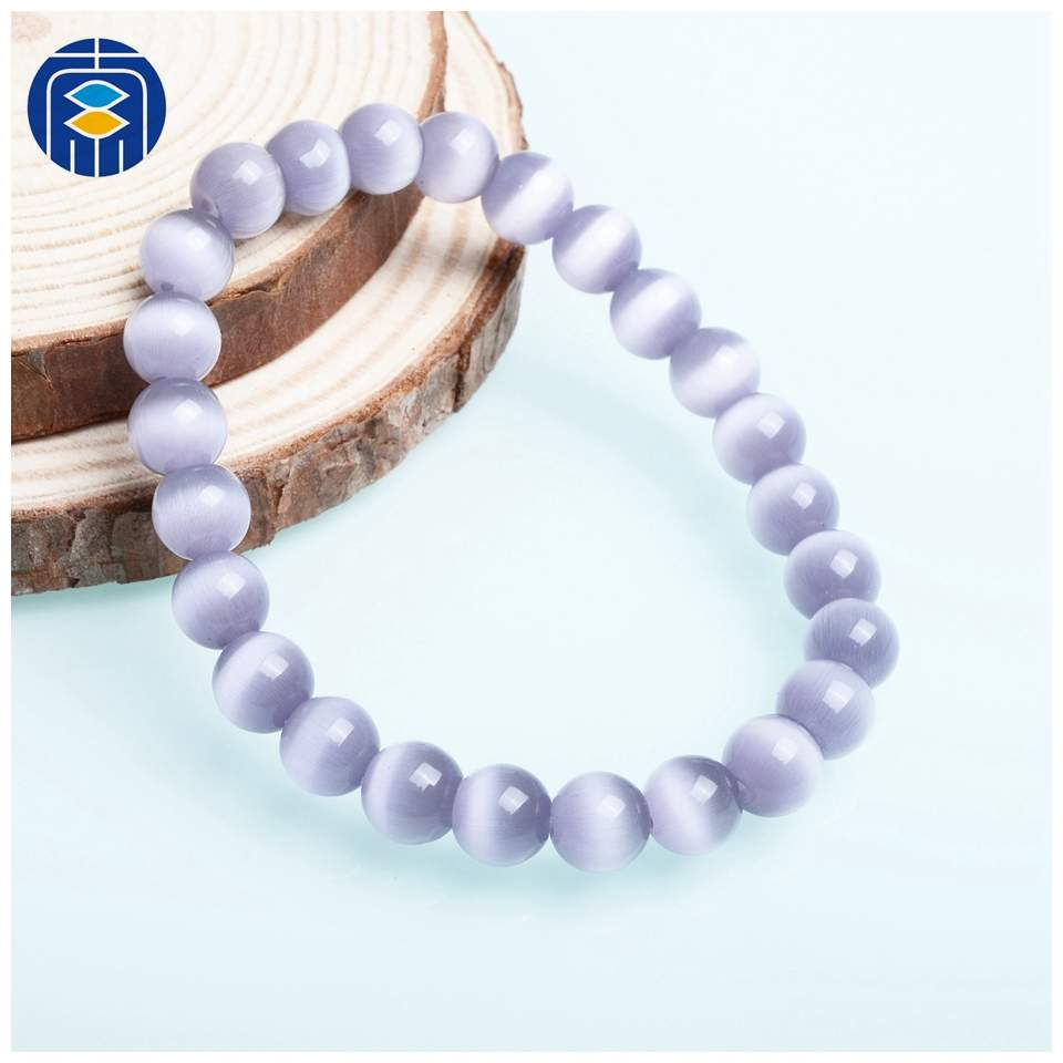 JuleeCrystal Natural Stone Bracelets Wholesale Fashion 8mm Opal Beads Bracelet For Women Men Cat's Eye Beads Bracelets