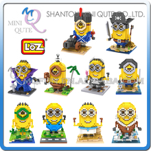 s 48 pcs/lot Mix 10 models Mini Qute LOZ Despicable Minion plastic building cartoon model block educational toy - MINI QUTE PLASTIC BLOCKS & METAL PUZZLE WORLD store