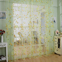 Hot Sale Fashion design modern transparent tulle curtains for window treatments living Bed room A2