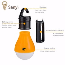 Sanyi 4 colors Emergency Camping Tent Lamp Soft Light LED Bulb Lamp Portable Energy Saving Lamp Outdoor Hiking Camping Lanterns