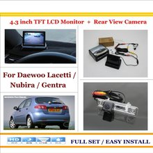 "In Car 4.3"" Color LCD Monitor + Car Rear Back Up Camera = 2 in 1 Park Parking System - For Daewoo Lacetti / Nubira / Gentra(China)"