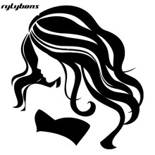 Rylybons Sexy Girl Vinyl Stickers 13x14.2cm Demors Stickers Decals for Car Glass Window Wall ect Half Price 2nd ONE(China)