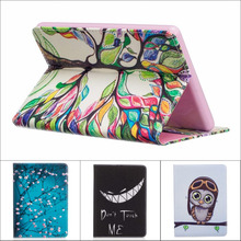 Fashion Cartoon flower tree abstract Wallet card PU Leather Stand Case Cover For Amazon Kindle 2016 Kindle 8 8th Generation +pen(China)