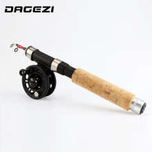 DAGEZI winter ice Fishing Rod + reel Spinning Fishing wheel ice Rod combo fishing tackle Fly Fishing Reel Kit Combo(China)