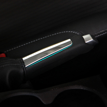 Car styling abs chrome trim handbrake handle cover stickers For Ford Focus 2 3 2009 2010 2011 2012 2013 2014 2015 accessories
