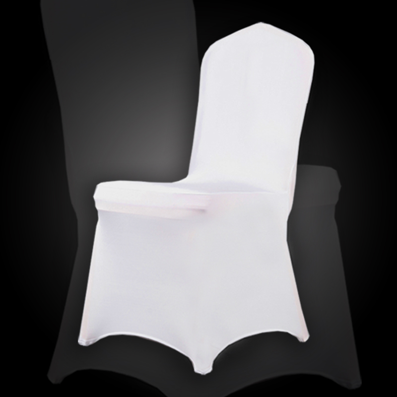 Germany send 100 pcs White Spandex Party Wedding Chair Covers for Weddings White Universal Stretch Polyeste Lycra Chair Cover(China (Mainland))
