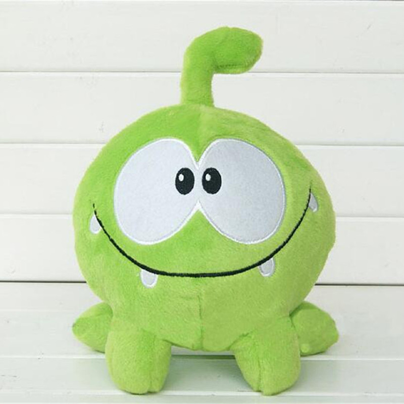 Cute cut the rope om frog plush toys Soft rubber the rope figure classic toys game lovely gift for kids(China (Mainland))