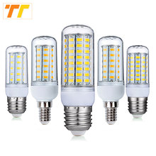 LED lamp Lampada E27 E14 Corn Bulb 24 36 48 56 69 72 96Leds SMD 5730 220V lamparas led Chandelier Candle light Spotlight(China)