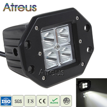Atreus 3Inch 12W Car LED Work Light 12V Spot Lamp DRL For ATV 4X4 Truck Offroad Trailer Driving Fog Lights car led accessories