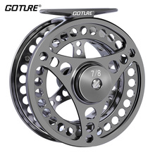 Goture High Quality Fly Fishing Reel 3/4 5/6 7/8 Interchangeable Fly Reel 2+1BB 1:1Aluminum Alloy Fishing Gear Fishing Tackle(China)