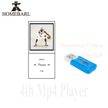 "HOMEBARL Mini Metal 1.8"" 4th LCD MP4 Player With FM Radio Video With Micro SD Card/TF Card Slot Speaker USB Cable Study Gift 5B7"