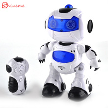 Funny 360 rotating children electronic walking dancing smart space robot kids cool astronaut model music light toys gift