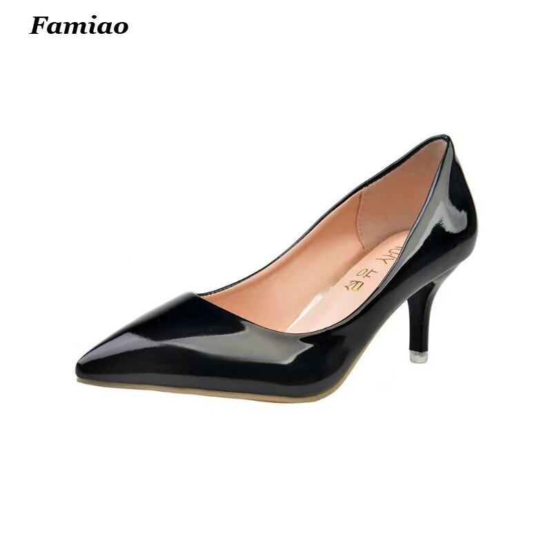Designer Ladies 7CM High Heel Shoes Woman Pumps Sexy Stilettos Pointed Toe Women Heels Fashion Party Shoes Chaussure Femme<br><br>Aliexpress
