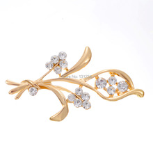Min. order 9 usd (can mix) Free shipping Temperament type high-grade female Flower brooch brooches/2015 fashion crystal jewelry