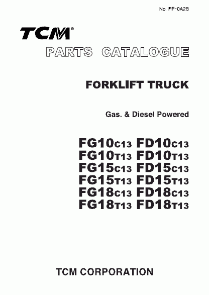 TCM ForkLift EPC - PCD-FB10BA  spare parts catalog<br><br>Aliexpress