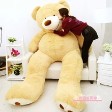 "2016 260cm/102"" HUGE BIG STUFFED ANIMAL giant TEDDY BEAR COVER PLUSH SOFT TOY PILLOW COVER(WITHOUT STUFF)"