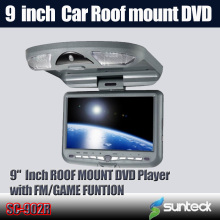 Free Shipping 9 inch Roof Mount Car DVD Player with 32bit Game+MPEG4+USB+SD+FM+IR(China)