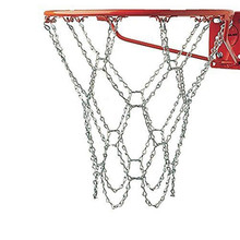 Stainless Steel Sports Heavy Duty Galvanized Steel Chain Basketball Goal Net Basketball hoop Mesh Nets drop shipping(China)