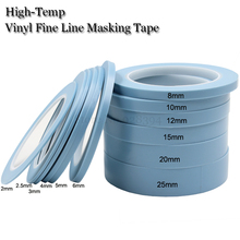 Blue High Temperature Single Sided Adhesive PVC Vinyl Fine Line Masking Tape Car Auto Body Shops Paint Fineline Tape