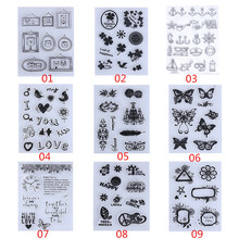 Cute Bear Heart Flowers Transparent Clear Rubber Stamp DIY Silicone Seals Scrapbooking/Photo album Decorative Stamp Sheet(China)