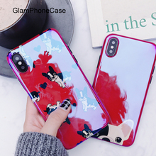 GlamPhoneCase Hot Red Dogs Laser Mobile Phone Case For iPhone6 6s 7 8 Plus 8plus X Soft TPU Back Cover Christmas Gift(China)