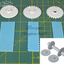 Yueyue Sugarcraft 1 set including 3 pairs of rollers Plastic Cake border decorating Tools Cake Mold