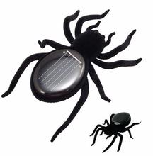 Free shipping+ 10pcs/lot Educational Solar Powered Spider Cockroach Grasshopper Butterfly Toy Gadget Kids