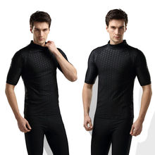 Black Men Water Sports Anti-UV Swimwear Suit Swiming Surfing Wetsuit Tops Shirt(China)