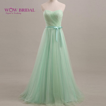 Wowbridal 2016 Elegant Long/Short Mint Green/Lavender Bridesmaid Dresses Beautiful Formal Dress for Wedding Party