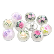 Buy 10pcs/lot Mixed 18mm Snaps Alloy Resin Fashion Snaps Buttons Fit Snap Jewelry Snaps Bracelets Flower 021518 for $1.37 in AliExpress store