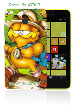 Mobile Phone Cases 2015 Retail 1pc Garfield Protective White Hard Cases For Nokia Lumia 630