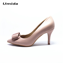 Umida Brand Women Shoes Genuine Leather High Heel Shoes Women Pumps Pointed Toe Pumps Customized Color High Heels Wedding Shoes(China)