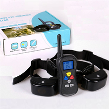 2017 PET008 330 Yards Remote Dog Electric Shock Training collars Rechargeable Waterproof Dog Training Collar For 2 Dog