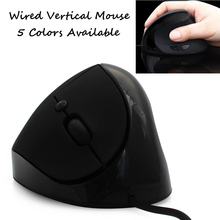 USB Wired Vertical Gaming Mouse Ergonomic Optical Computer Mause Mice 1600DPI Gamer 168CM Cable Alleviate Wrist Pain - Umemory Direct NO.1 store