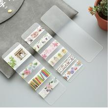 10 pcs/lot transparent packaging board DIY stickers office adhesive Washi paper tape dispensing plate(China)
