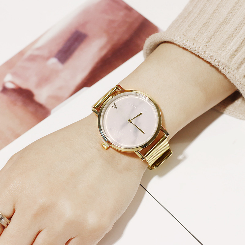 hot fashion womens watches creative marble pattern dial quartz wrist watches free shipping (7)