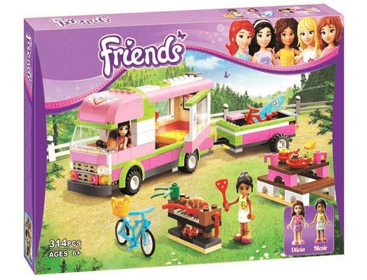 2017 New Original Friends BELA 10168 RV Model Building Blocks 314pcs/set Girl Adventure Camper Bricks Toys Compatible Legoe<br><br>Aliexpress