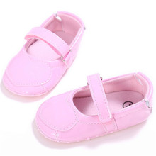 New Baby Crib Leather Shoes for Girl Newborn Solid Heart Pattern Soft Sole Anti-slip Baby Sneakers High Quality(China)