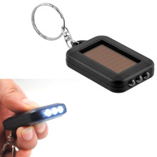 5PCS Mini Solar Power Keychain LED Flashlight Torch Rechargeable Key Ring Flash Light Lamp for Outdoor Sports(China)