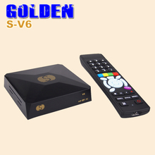 1PC Original S V6 S-V6 Satellite Receiver/ TV Box Support 2 USB WEB TV Card Sharing Youtube DVB-S2 DVB S2