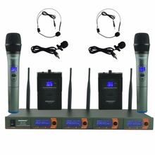 FREEBOSS FB-V04H2 Professional Microphones VHF KTV Party Mic System 2 Handheld and 2 Headset Wireless Karaoke Microphone(China)