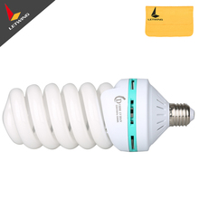 150W 220V 5500K E27 Photography Lighting Video Studio Fluorescent Bulb Tricolor Photography Light Spiral Bulb(China)