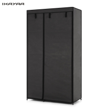 iKayaa Fabric Folding Closet Wardrobe Cloth Cabinet Roll Up Clothes Organizer Wardrobe with 5 Storage Shelves US UK FR Stock