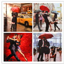 Diamond Painting Cross Stitch Pattern 5D Diamond Embroidery red umbrella love diamond Mosaic Resin Home Decor DIY diamond RS669