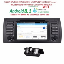 Verrückte Verkäufe Quad Core Android 8.1 2 GB + 16G Single 1 Din Auto Stereo DVD Player für BMW E39 bmw x5 e53 GPS Navigation USB 4 GWIFI BT(China)