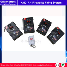 4 button remote control 4 pcs receiver Stage indoor fountain pyrotechnic Igniter Fireworks firing system machine